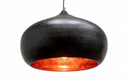 Round Copper Hanging Lamp XL