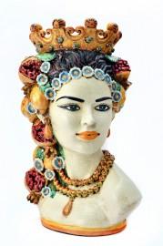 Buste en Céramique, Reine de Sicile
