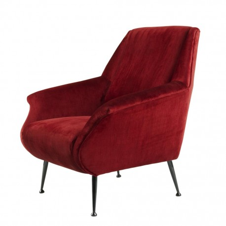 Lounge Chair Mannix, Pink velvet