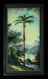 Gravures Anciennes Palmiers, h130cm, La Paire