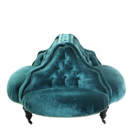 Circular Upholstered sofa - Napoleon III style