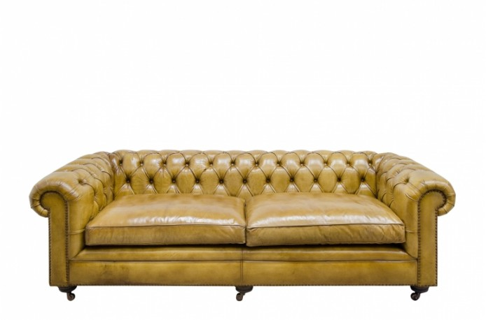 Chesterfield Sofa Lime Color 240 cm