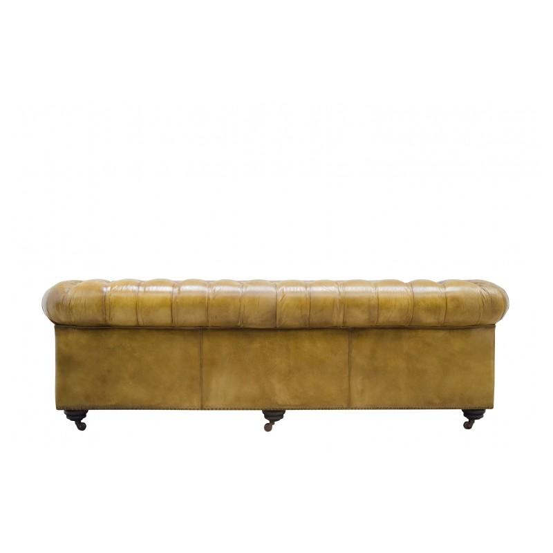 canap chesterfield en cuir vintage capitonn couleur. Black Bedroom Furniture Sets. Home Design Ideas