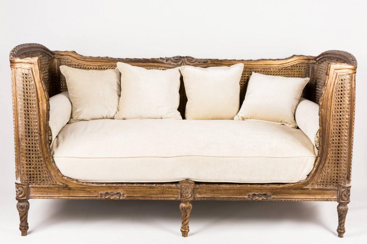 canap banquette corbeille ancien napol on iii velours patin bois sculpt fin xix. Black Bedroom Furniture Sets. Home Design Ideas
