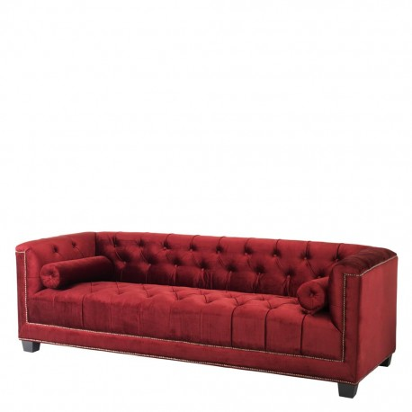 Sarah Sofa red Flaming
