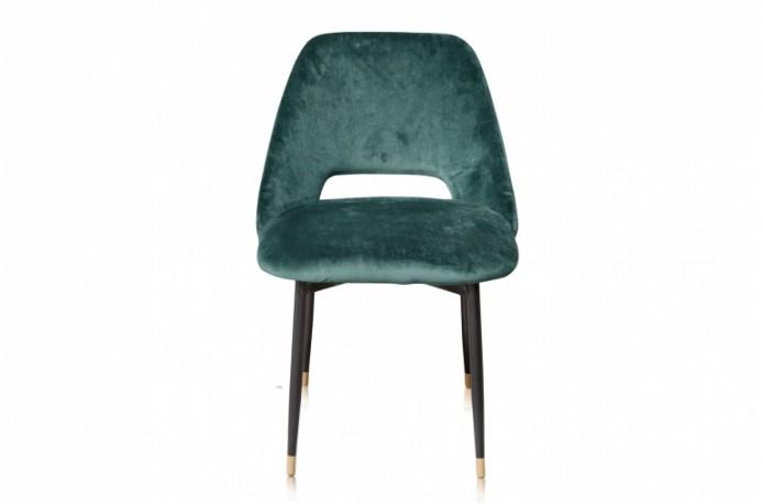 Chaise de table Healey - Velours Vert Mandarin