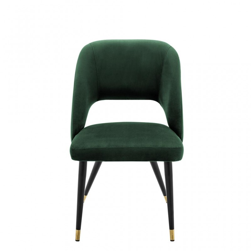 Beautiful Chair With Black Metal Base And Brass Mouthpiece