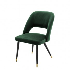 Dining Chair Cipria, Green Mandarin Velvet