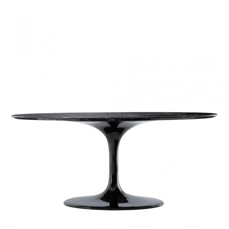 Beautiful Contemporary Round Black Design Table With Its 170cm