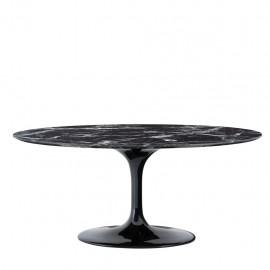 Table Ovale Noire Ennio 170 cm
