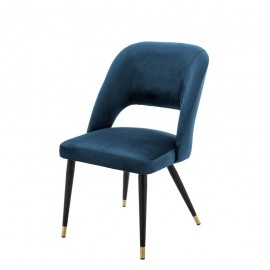Dining Chair Cipria, Blue Velvet