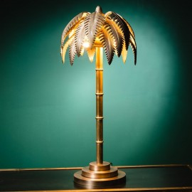 Palm Tree Brass Lamp