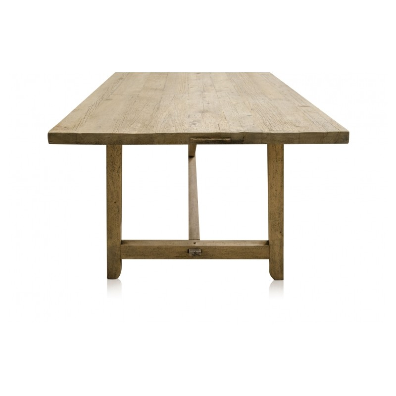 A beautiful wooden dining table made of recycled solid wood for Beautiful wood dining tables