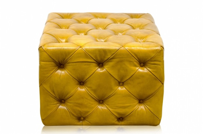 Ottoman repose-pieds Brumby Small jaune citron