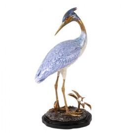 Figurine, Aigrette Porcelaine et Laiton