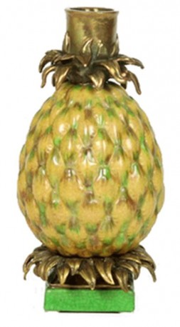 Bougeoir Ananas jaune