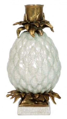 Bougeoir Ananas blanc