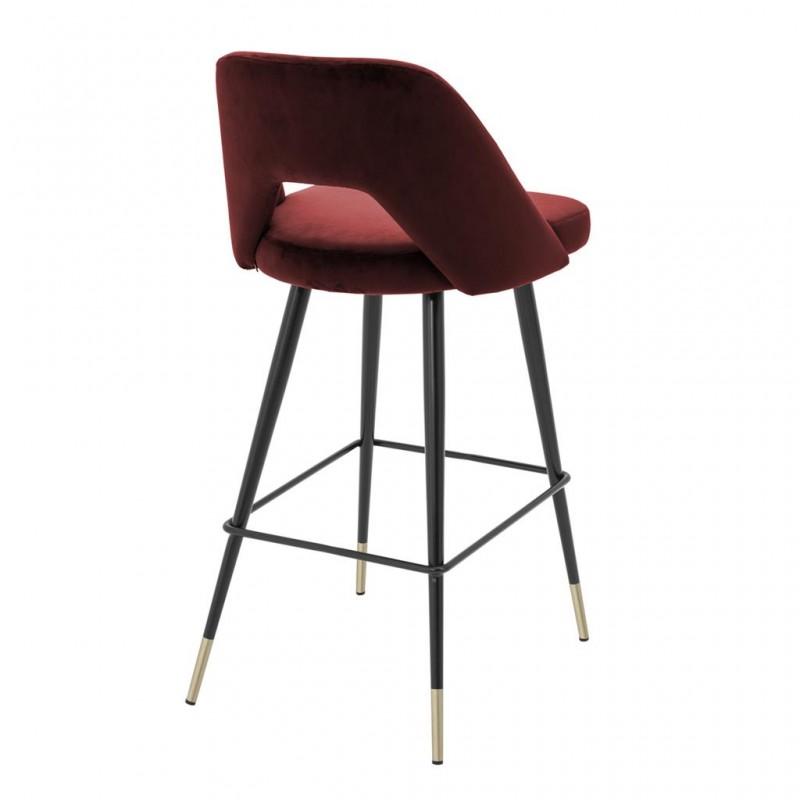 belle chaise de bar enzo avec son pi tement en m tal noir. Black Bedroom Furniture Sets. Home Design Ideas