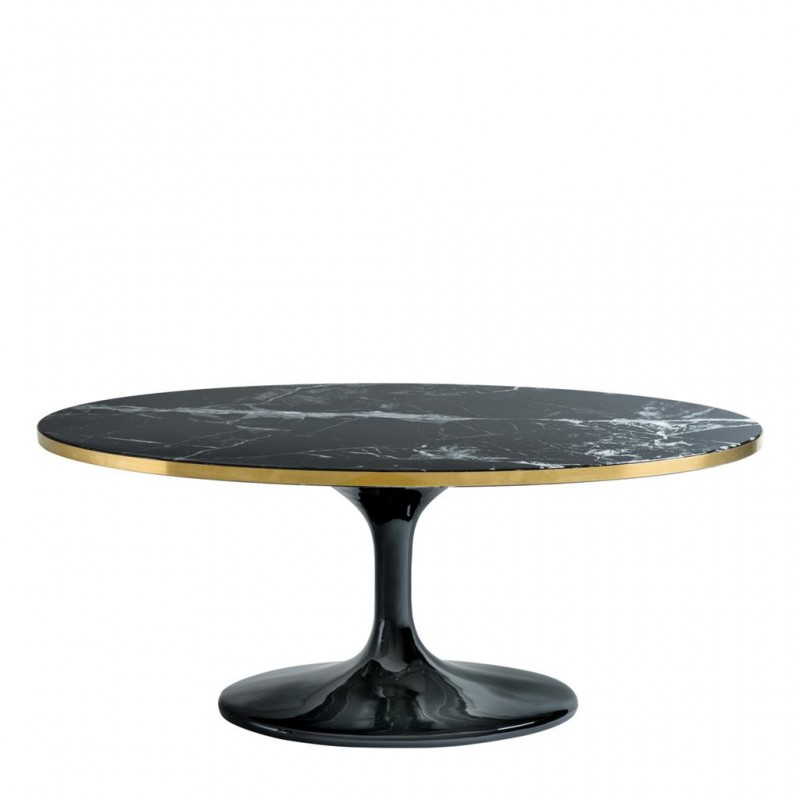 Beautiful Black Oval Coffee Table Design With Its Black