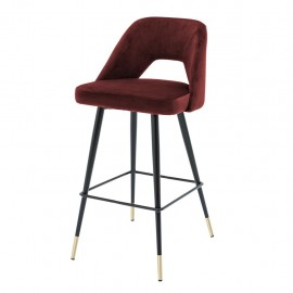 Bar Chair Enzo, Bordeaux Velvet