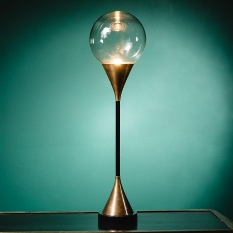 Beautiful Table Torch Lamp In Polished Brass Very Inspired By The Art Deco  Movement