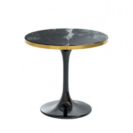 Contemporary Round Black Side Table