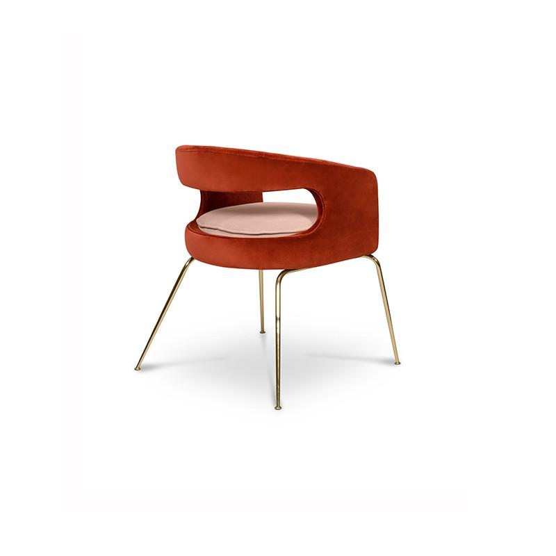 un superbe design glamour pour la chaise en velours opus au design et velours luxueux. Black Bedroom Furniture Sets. Home Design Ideas