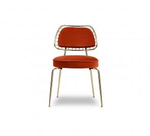Chaise Velours Grazzia Mid Century Design