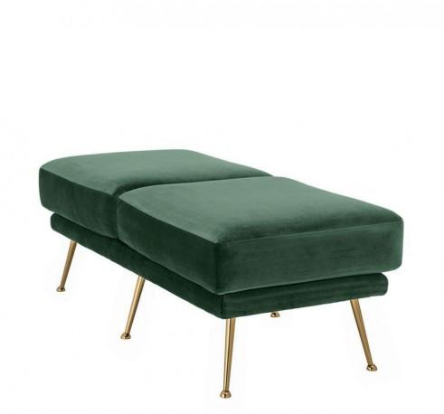 Mondrian Ottoman green laurel velvet