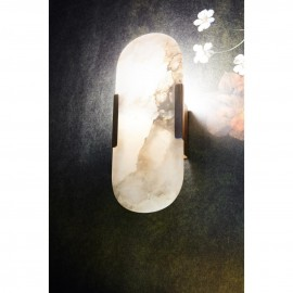 Oval Alabaster Wall Light