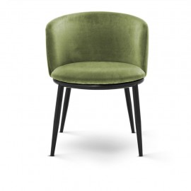 Dining Chair Balmore, Almond Green Velvet set of 2