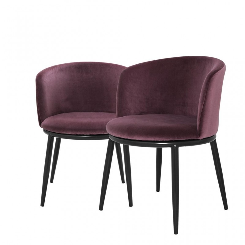 dining chair balmore almond purple velvet set of 2 in the. Black Bedroom Furniture Sets. Home Design Ideas
