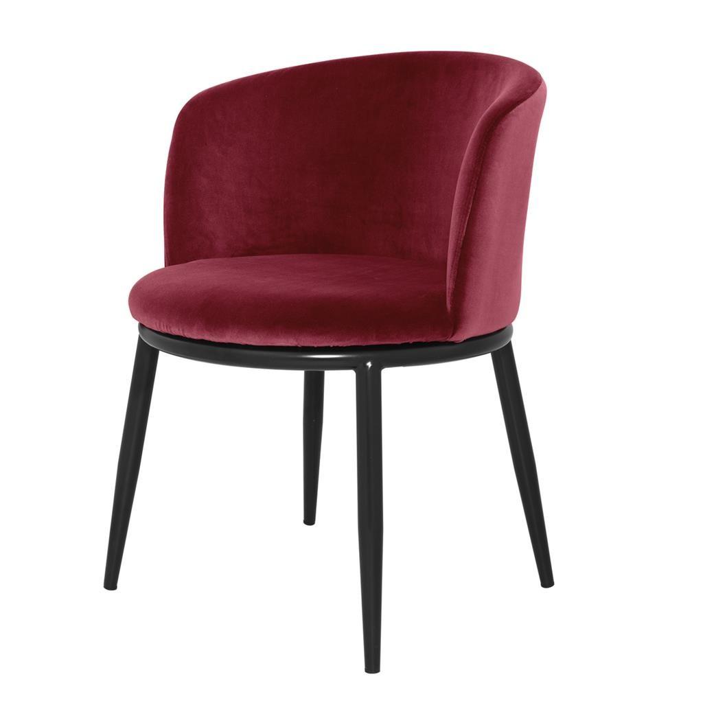 La Chaise Balmore Avec Son Piètement En Métal Noir Et Laiton Assise