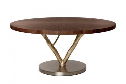 Magnolia Round Dining Table, Mid Century Design