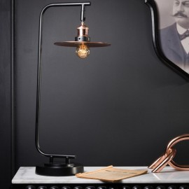 Black and Copper Desk Lamp