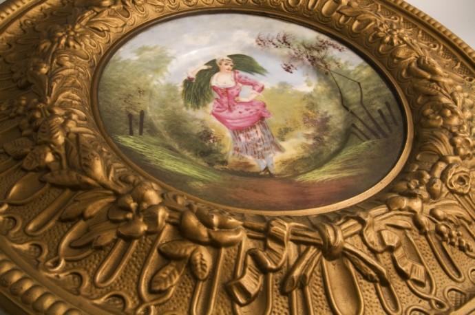 Assiette ancienne porcelaine de limoges decoration - Assiette murale ...