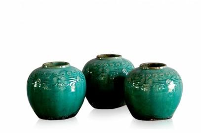 Vases céramique émaillée Chine - set de 4