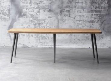 Table de Repas Clay, Teck Brut Recyclé