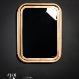 Rectangular Mirror Brass