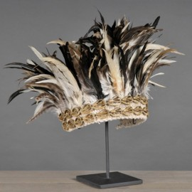 Indonesian Headdress - Shells and Feathers