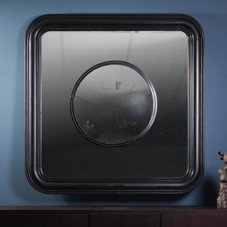 Round Convex Mirror in a Square One