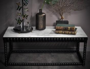 Table Basse Constantine, Manguier noir et Marbre L130cm