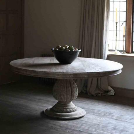 Wooden Round Table Pénélope