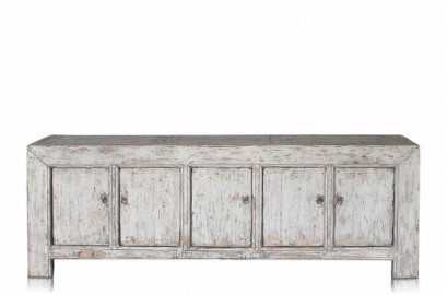 Ancient Large  White Sideboard 100 Years Old