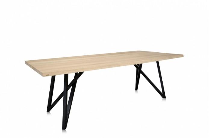 Table en chêne massif et métal 007 240cm