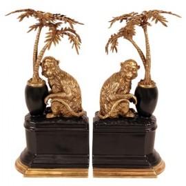 Bronze Monkeys Bookends