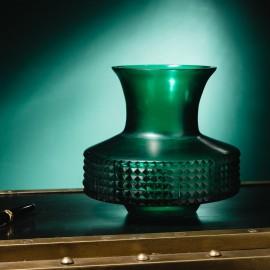 Low Shape Matt Green Vase