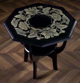 Table basse - Guéridon 1920, motif lotus
