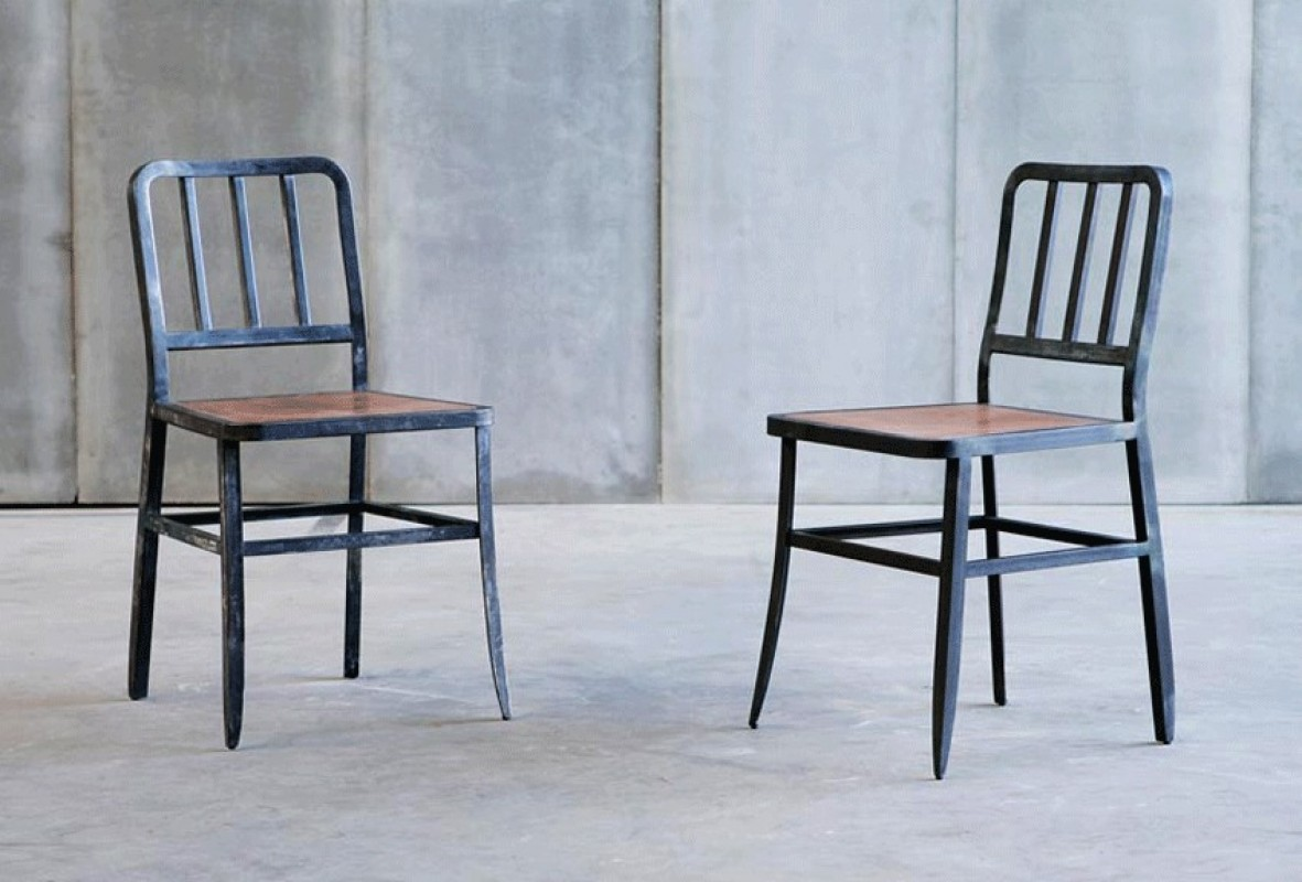Chaise En Metal Fer Style Industriel
