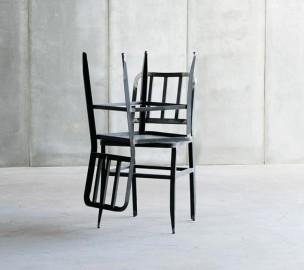Chaise Manufacture Métal & Cuir